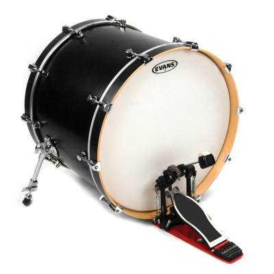 evans 22 inch g2 batter single ply coated white drumhead long mcquade musical instruments. Black Bedroom Furniture Sets. Home Design Ideas