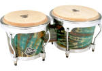 Latin Percussion - Aspire Wood Bongos - Green Tie Dye