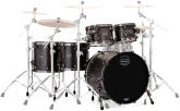 Mapex - Saturn V MH Exotic Studioease 5-Piece Shell Pack (22, 10, 12, 14, 16) - Satin Black Maple Burl