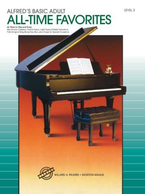 Alfred's Basic Adult Piano Course: All-Time Favorites Book 2 - Palmer/Manus - Piano - Book