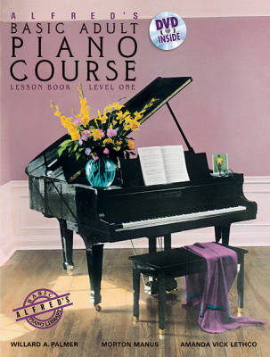 Alfred's Basic Adult Piano Course Lesson Book, Level 1 - Palmer/Manus/Lethco - Piano - Book/DVD
