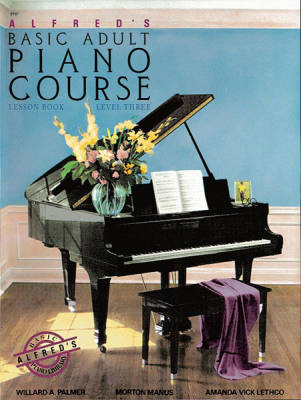 Alfred's Basic Adult Piano Course Lesson Book, Level 3 - Palmer/Manus/Lethco - Piano - Book