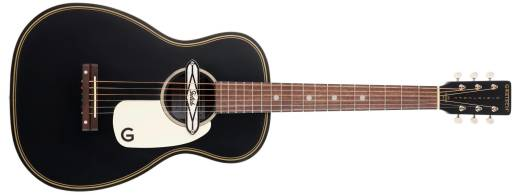 G9520E Gin Rickey Acoustic/Electric with Soundhole Pickup, Walnut Fingerboard - Smokestack Black