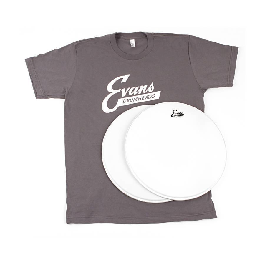 Evans Drum Heads T Shirt : evans vintage pack b14g1 2 and free t shirt long mcquade musical instruments ~ Hamham.info Haus und Dekorationen