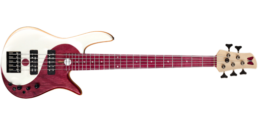 Yin Yang Standard 5-String Bass - Purple Heart/Olympic White Top