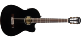 Fender - CN-140SCE Nylon Thinline Acoustic/Electric Guitar with Case - Black