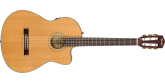 Fender - CN-140SCE Nylon Thinline Acoustic/Electric Guitar with Case - Natural