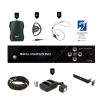 Williams Sound - FM 557 PRO Assistive Listening System (4 Receivers) with Rack Panel Kit and Cable