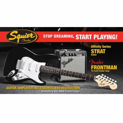 Affinity Stratocaster Packs with Frontman 10G Amp