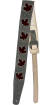 Fender - 2.5 Leather Maple Leaf Guitar Strap - Gray/Burgundy