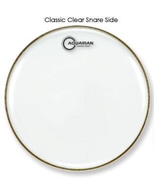 Aquarian 12 Inch Classic Clear Snare Head Long Amp Mcquade