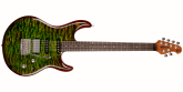 Ernie Ball Music Man - Luke III HSS Maple Top, Rosewood Fingerboard with Case - Luscious Green Quilt