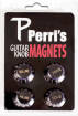 Perris Leathers Ltd - Volume & Tone Guitar Knob Fridge Magnets - Fender Black
