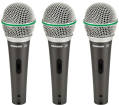 Samson - Q6 Dynamic Supercardioid Microphones with Case and Clips - 3-Pack