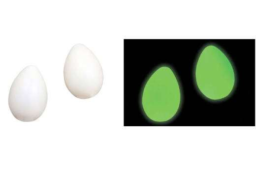 Glow-in-the-Dark Egg Shakers (pair)