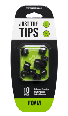 Foam Tips for MP Series In-Ear Headphones (10/Pack) - Large
