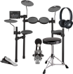 Yamaha - DTX452K Electronic Drum Kit with DS550 Throne & HPH-100 Headphones