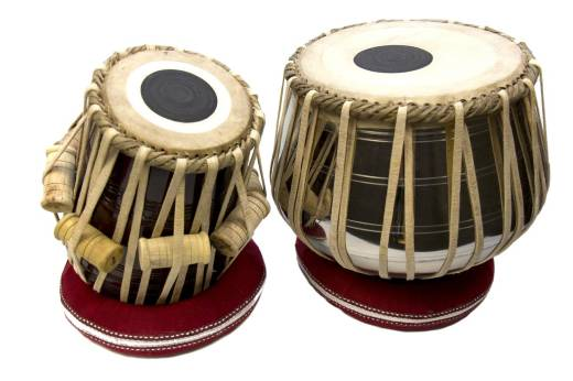 Deluxe Tabla Set, Nickel Plated Brass