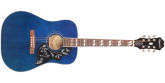 Epiphone - Hummingbird Pro Limited Edition Acoustic/Electric - Blue Burst