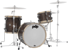 Pacific Drums - Concept Maple Classic 3-Piece Shell Pack with Maple Hoops (22,13,16) - Walnut Stain