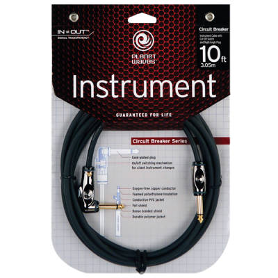 Circuit Breaker Guitar Cable with Right Angle - 20 Foot