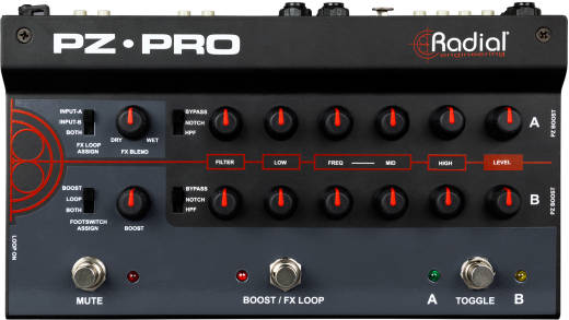 Radial - PZ-Pro 2-Channel Acoustic Instrument Preamp