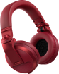 Pioneer - HDJ-X5BT Over-Ear DJ Bluetooth Headphones - Red
