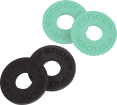 Fender - Strap Blocks 4 Pack - Black/Surf Green