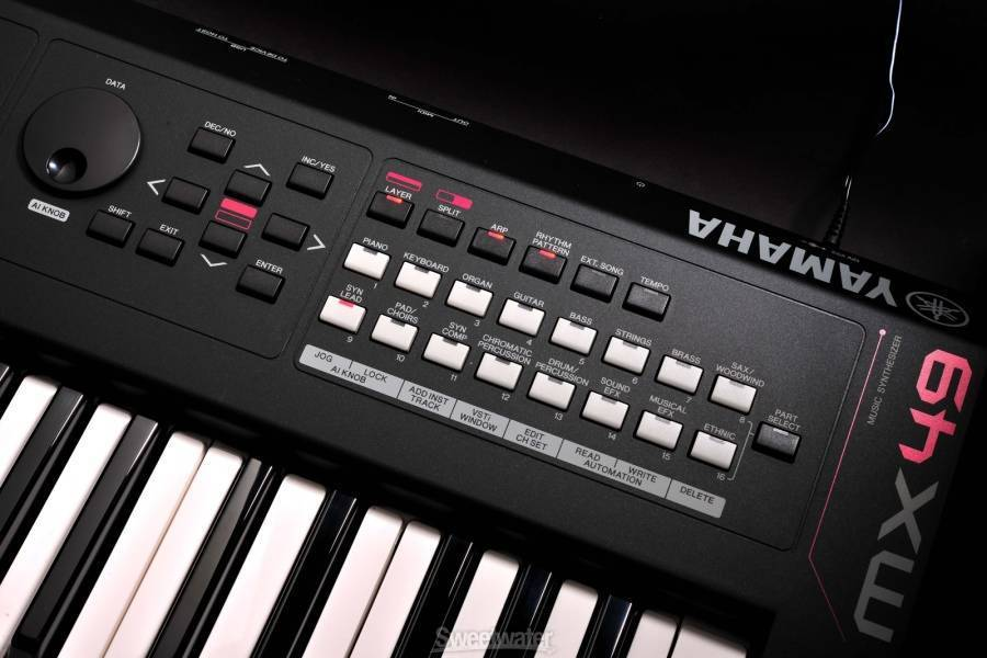 yamaha mx49 key synthesizer long mcquade musical instruments. Black Bedroom Furniture Sets. Home Design Ideas
