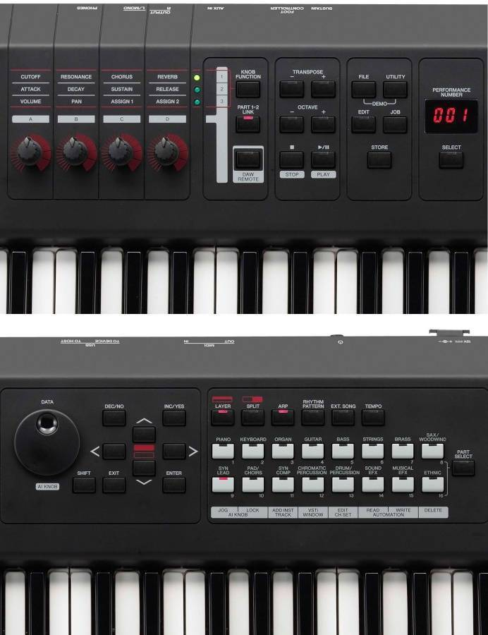 yamaha 61 key synthesizer long mcquade musical instruments. Black Bedroom Furniture Sets. Home Design Ideas
