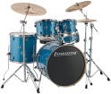 Ludwig Drums - Evolution 5-Piece Drum Kit with Hardware and I Series Cymbals (22, 10, 12, 16, SN) - Blue Sparkle