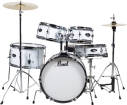 Pearl - Roadshow Jr. 5-Piece Drum Kit with Cymbals and Hardware - Pure White