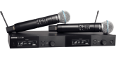 Shure - SLXD24D/B58 Dual Wireless System with SLXD2/B58 Handheld Transmitters - H55