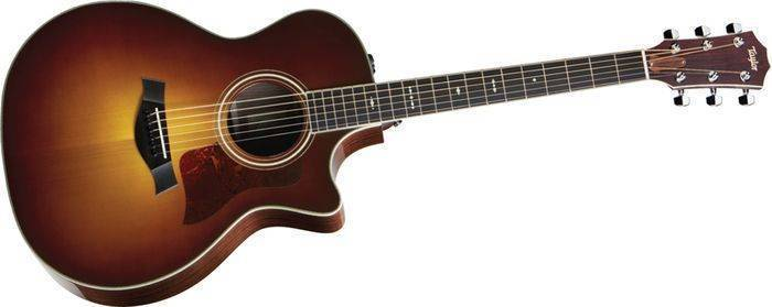 Taylor Guitars Rosewood Cedar Acoustic Electric Guitar Cutaway