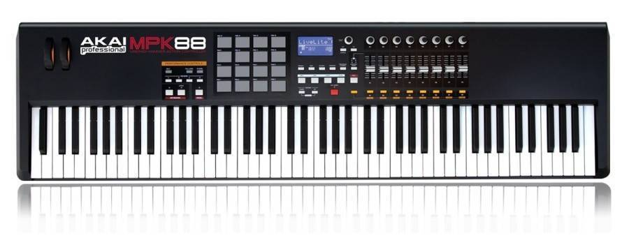 akai 88 key 16 pad weighted controller long mcquade musical instruments. Black Bedroom Furniture Sets. Home Design Ideas