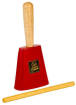 Latin Percussion - Aspire EZ-Grip Cowbell with Handle - Red