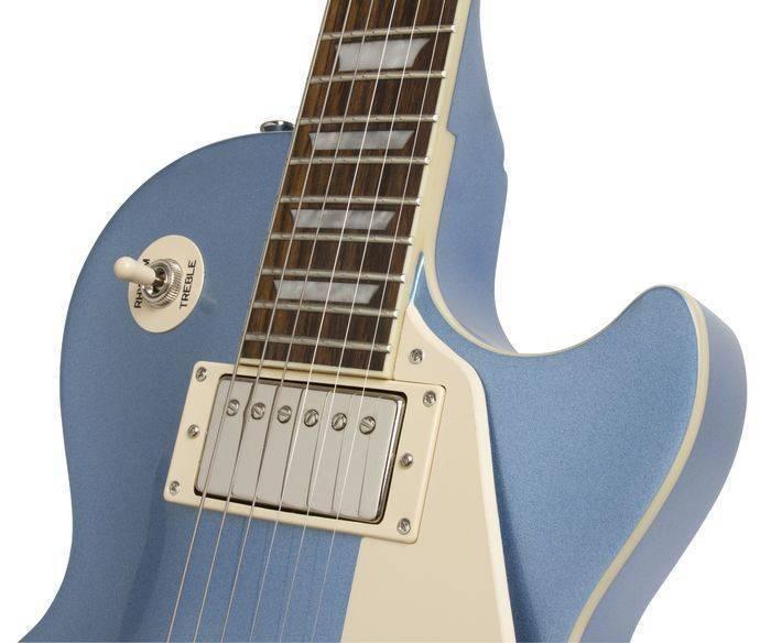 Epiphone Les Paul Standard Plaintop Pelham Blue Long Mcquade