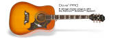 Epiphone - Dove Pro Electric/Acoustc in Violin Burst