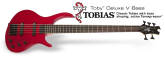 Epiphone - Toby Deluxe V 5-String  Bass in Trans Red