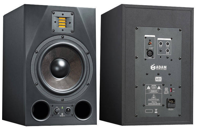adam audio a8x 8 5 inch 150w 50w powered reference monitor long mcquade musical instruments. Black Bedroom Furniture Sets. Home Design Ideas