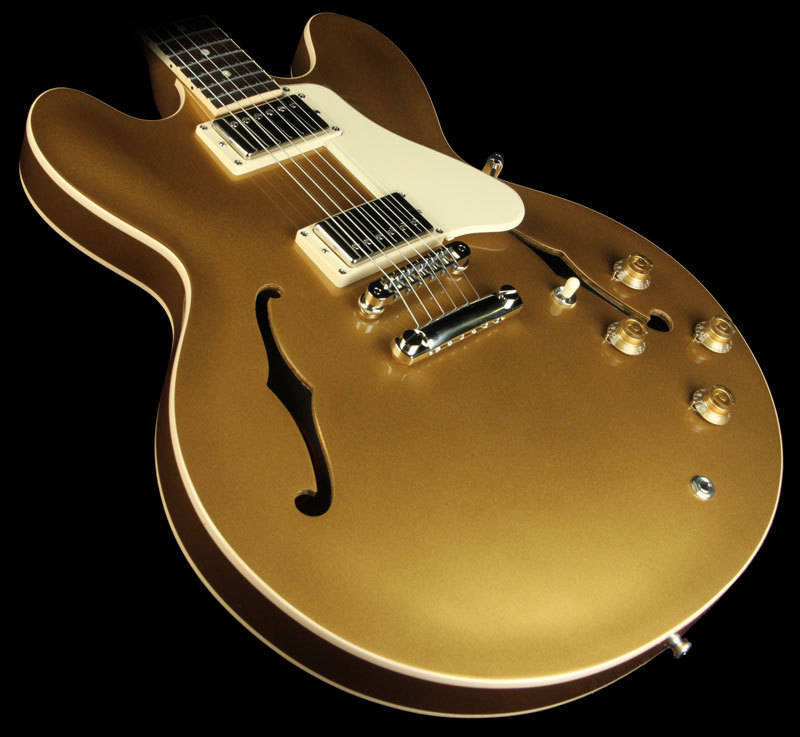 gibson es 335 plain top semi hollow electric dot inlay gold finish long mcquade musical. Black Bedroom Furniture Sets. Home Design Ideas