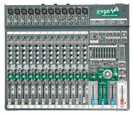 Yorkville Sound 14 Channel Compact Desk Mixer Long