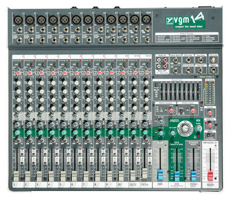 14 Channel Compact Desk Mixer