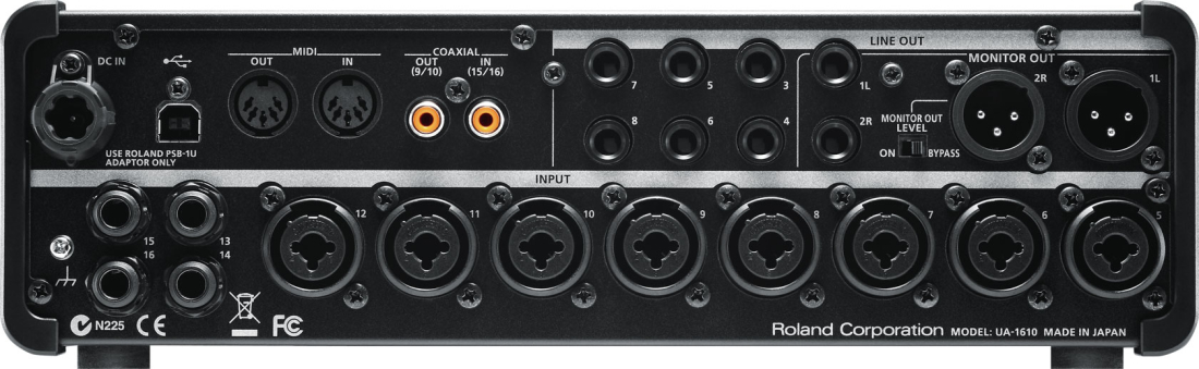 roland studio capture 16 in out usb 2 0 audio interface long mcquade musical instruments. Black Bedroom Furniture Sets. Home Design Ideas