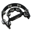 Granite Percussion - Heavy Duty Half-moon Tambourine with Inside Row - Black