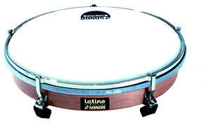 Latino 10 Inch Hand Drum, Plastic Head