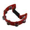 Granite Percussion - Half-Moon Plastic Tambourine - Red