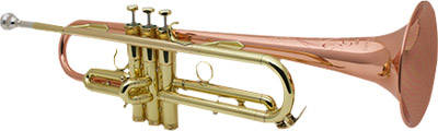 Handcraft Bb Trumpet Copper Bell w/ Case