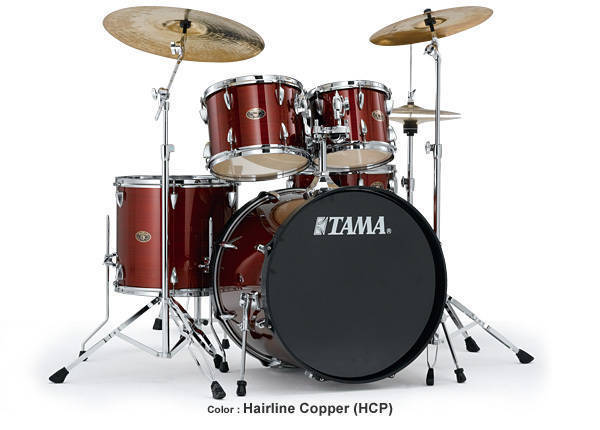 tama imperialstar 20 inch bass drum kit hairline copper long mcquade musical instruments. Black Bedroom Furniture Sets. Home Design Ideas
