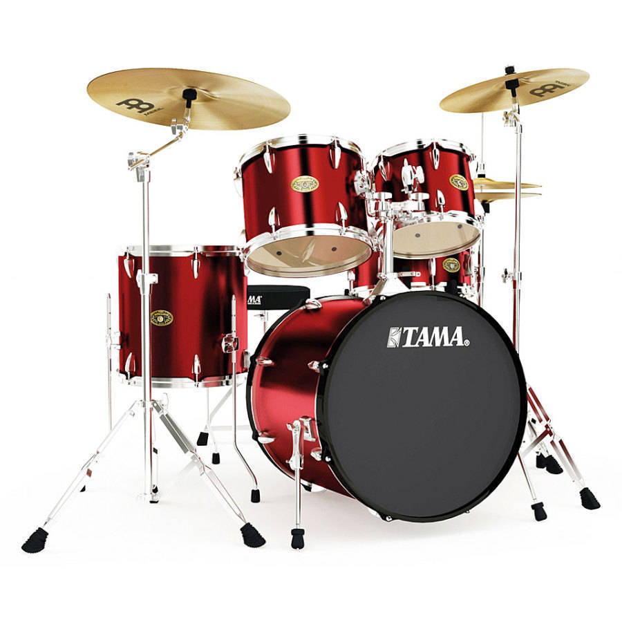 Tama Imperialstar 22 Inch Bass Drum Kit Vintage Red Long